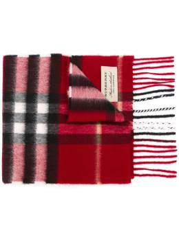 Burberry Kids шарф в клетку 3994501