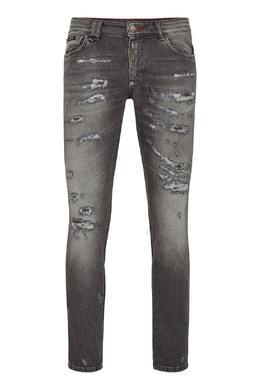 Серые джинсы с декором на заднем кармане Philipp Plein 1795159718