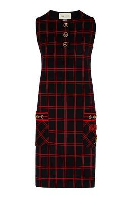 Платье-сарафан в клетку Gucci 470160214