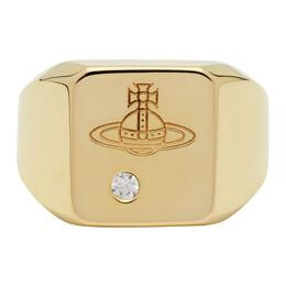 Vivienne Westwood Gold Carlo Ring 192314M14701205GB