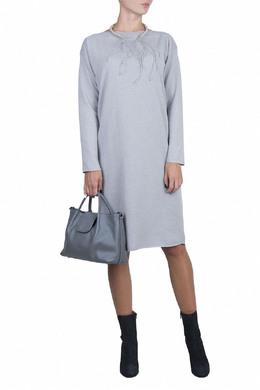 Светло-серое платье из смешанного трикотажа Fabiana Filippi 2658160638