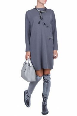 Бордовое трикотажное платье с карманом Fabiana Filippi 2658160634
