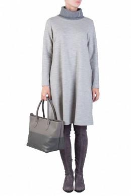 Светло-серое платье из шерстяного трикотажа Fabiana Filippi 2658160498