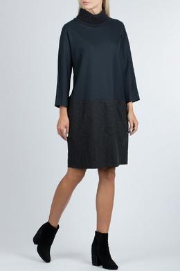 Темно-синее платье с длинными рукавами Fabiana Filippi 2658160633