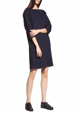 Темно-синее платье с длинными рукавами Fabiana Filippi 2658160631