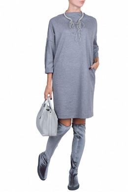 Серое платье из джерси Fabiana Filippi 2658160630