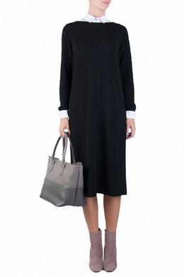 Трикотажное черное платье Fabiana Filippi 2658160492