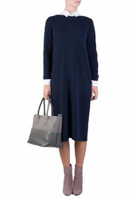 Синее трикотажное платье Fabiana Filippi 2658160491