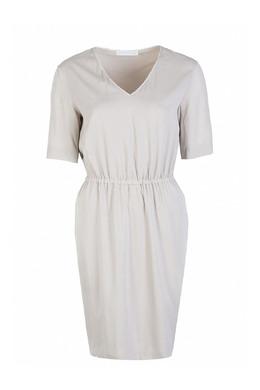 Бежевое платье с короткими рукавами Fabiana Filippi 2658160375