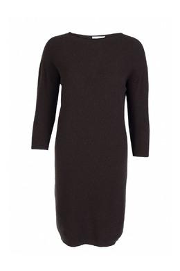 Коричневое однотонное платье из трикотажа Fabiana Filippi 2658160429