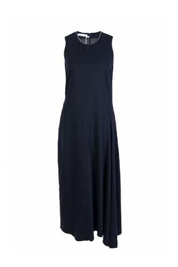 Темно-синее шерстяное платье без рукавов Fabiana Filippi 2658160437