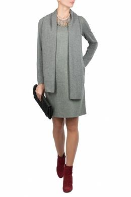 Серое миди-платье из шерсти Fabiana Filippi 2658160434