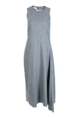 Светло-серое шерстяное платье Fabiana Filippi 2658160436