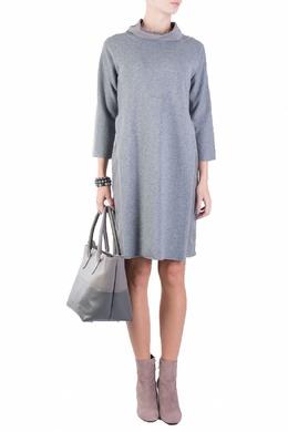 Серое платье из шерстяного трикотажа Fabiana Filippi 2658160626