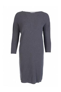 Серое трикотажное платье Fabiana Filippi 2658160428