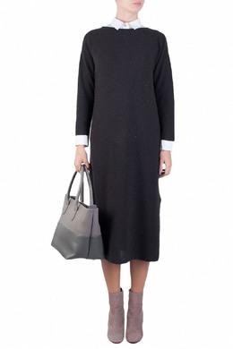 Черное платье прямого кроя Fabiana Filippi 2658160465