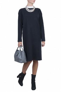 Темно-синее платье из шерстного трикотажа Fabiana Filippi 2658160639