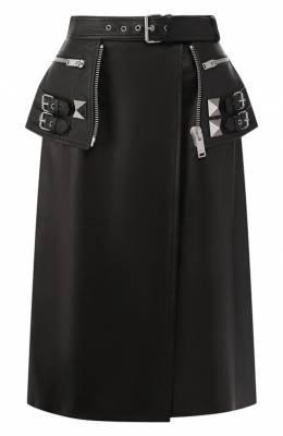 Кожаная юбка Alexander McQueen 594838/Q5ACQ