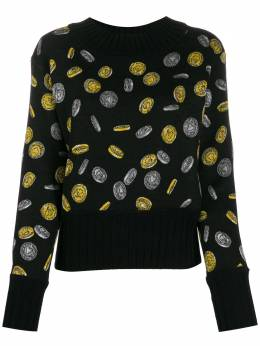 Moschino coin print cropped jumper A09115401