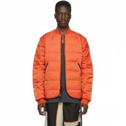 Y-3 Orange Padded Liner Jacket 192138M18001103GB