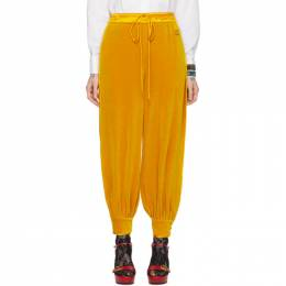 Gucci Yellow Chenille Jogging Lounge Pants 595929 XJBUH