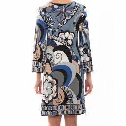 Emilio Pucci Multicolor Print Jersey Dress S 79269