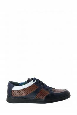 Разноцветные кожаные кеды Roberto Rossi 2995160763