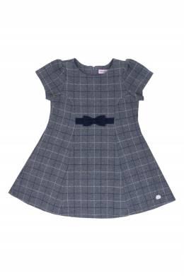 Серое платье в клетку Miki House 3018160162