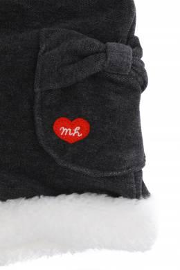 Серые шорты с меховой оторочкой Miki House 3018160163