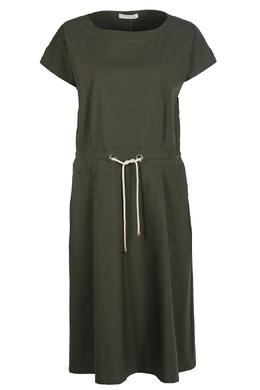 Серо-зеленое платье на поясе Fabiana Filippi 2658160406