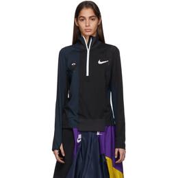 Nike Black and Navy Sacai Edition NRG Half-Zip Running Jacket CD6308-010