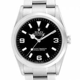 Rolex Black Stainless Steel Explorer I 114270 Men's Wristwatch 36MM 237881