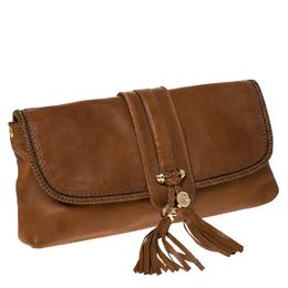 Gucci Camel Pebbled Calfskin Leather Marrakech Clutch 232773