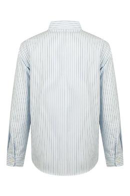 Рубашка в тонкую бело-синюю полоску Gucci Kids 1256160330