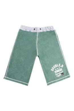 Трикотажные шорты цвета хаки Miki House 3018160267