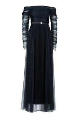 Черное шифоновое платье Fabiana Filippi 2658160911