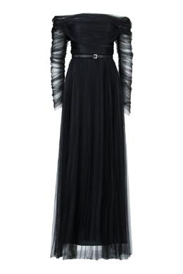 Вечернее платье из черного шифона Fabiana Filippi 2658160912