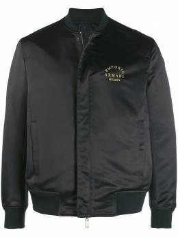 Emporio Armani куртка-бомбер с вышитым логотипом 6G1BP31NIJZ