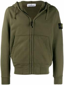 Stone Island куртка с капюшоном и логотипом MO711560220