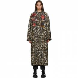 Raf Simons Off-White Animalier Patches Car Coat 192287F05900101GB