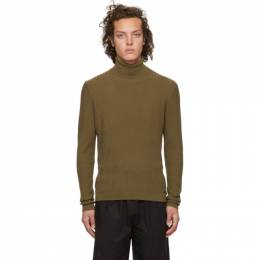 Hugo Khaki Wool SBlock Turtleneck 192084M20501404GB