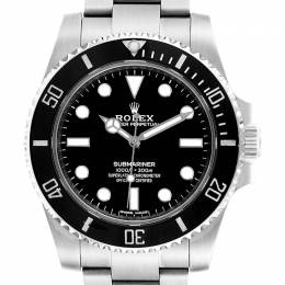 Rolex Black Stainless Steel Submariner 114060 Men's Wristwatch 40MM 237917