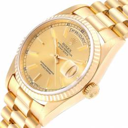 Rolex Champagne 18K Yellow Gold President Day-Date 18238 Men's Wristwatch 36MM 237907