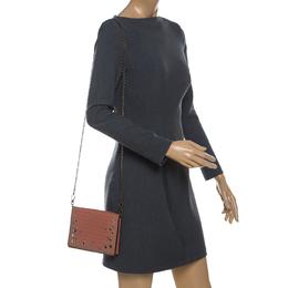 Bottega Veneta Orange Intrecciato Leather Flap Crossbody Bag 233451