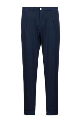 Темно-синие шерстяные брюки Marco Pescarolo 2512161576