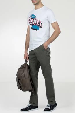 Белая хлопковая футболка с принтом Ice Play 2998161518