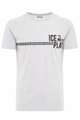 Серая футболка с логотипом бренда Ice Play 2998161522