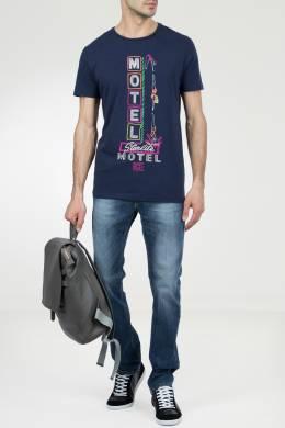 Темно-синяя футболка с принтом Ice Play 2998161521
