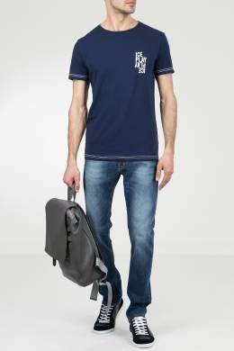 Синяя футболка с белыми швами Ice Play 2998161526