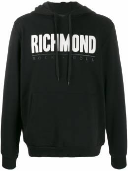 John Richmond Wanza logo-print hoodie RMA19249FE